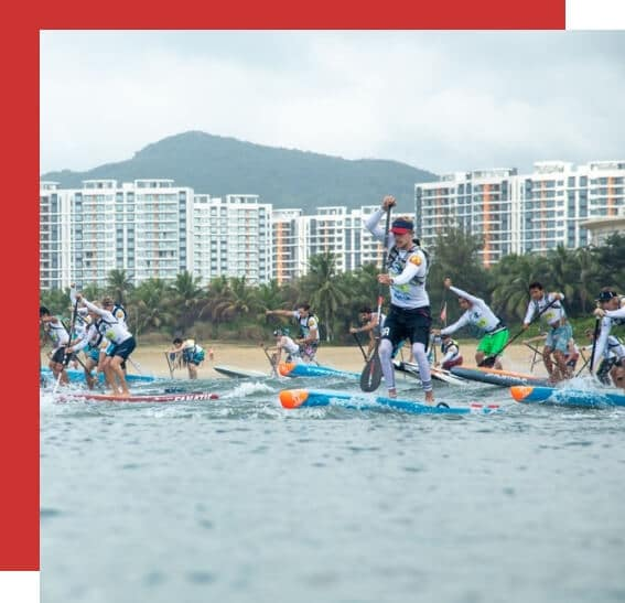 2018 Men's SUP Distance Race Hainan ISA.