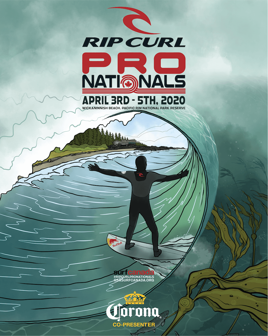 2020 Ripcurl Pro Nationals Poster