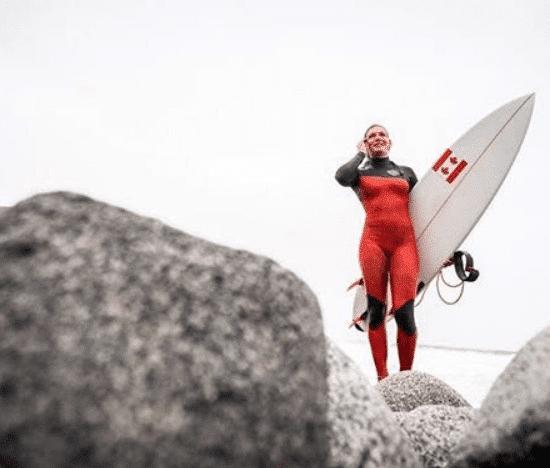 Canadian surfer Bethany Zelasko
